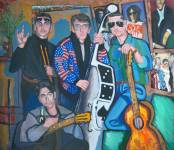 Дима Гура, Music Band, 1999, холст/масло, 72×83.